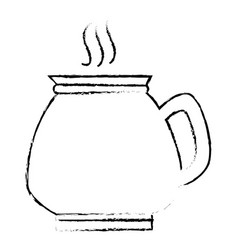 Coffee teapot isolated icon vector