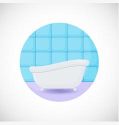 Bathtub flat icon vector