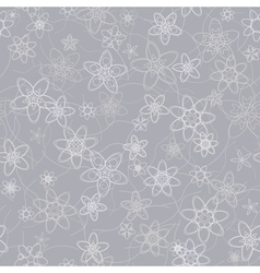 abstract flowers floral grey seamless background vector image