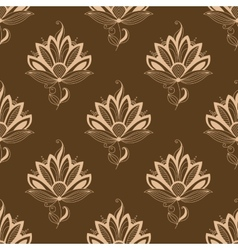 Floral motif repeat seamless pattern vector