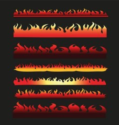 Abstract fire frame and border line collection vector