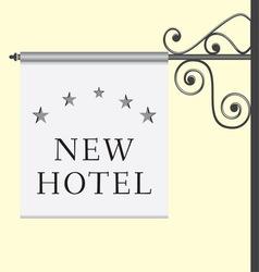5 star hotel signboard vector
