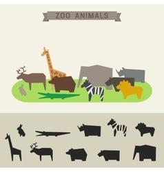 Zoo animals vector