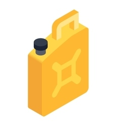 Fuel jerrycan isometric 3d icon vector