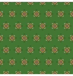 seamless pattern on a green background vector image
