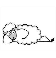 Funny young sheep vector image