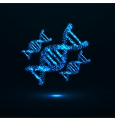 Abstract DNA Neon molecular structure vector image vector image