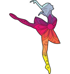 ballet dancer with transition colors vector image vector image