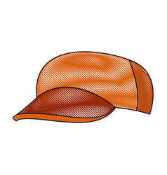 Baseball cap casual clothes fashion sport vector
