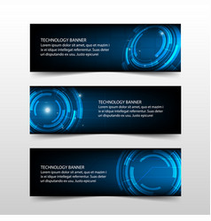 blue abstract technology corporate business vector image