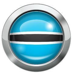Botswana flag metal button vector image vector image