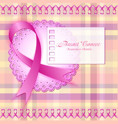 Breast cancer awareness month vector