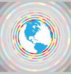colorful earth vector image
