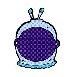 Comic cartoon space helmet vector