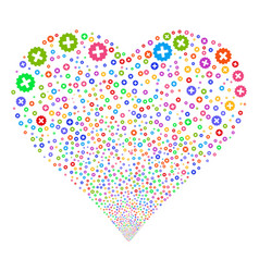 Create fireworks heart vector