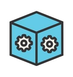 Dropbox settings vector