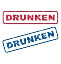 Drunken rubber stamps vector