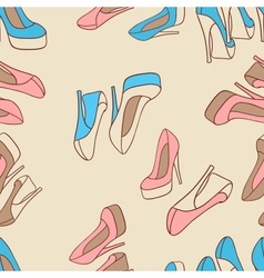 Fashion background with feminine shoe vector image