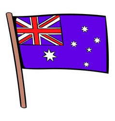 flag of australia icon cartoon vector image