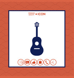 guitar icon vector image vector image