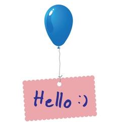 Hello card vector