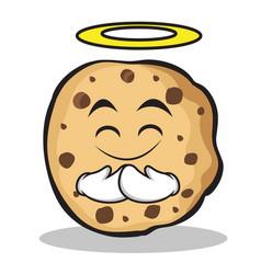 Innocent face sweet cookies character cartoon vector
