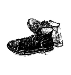 Pair of casual shoe vector image