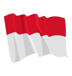 political waving flag of monaco vector image