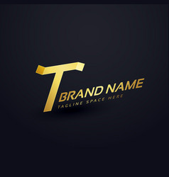 Premium letter t logo concept design template vector