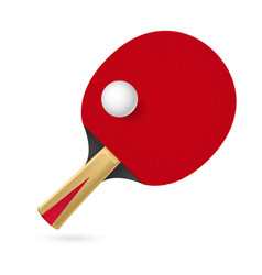 racket for playing table tennis on white vector image vector image
