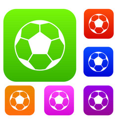 Soccer ball set collection vector