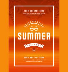 Summer sale banner online shopping on beach vector