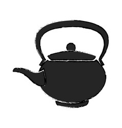 Teapot ceramic japanese culture traditional vector