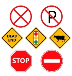 Traffic laws labels for your product or design vector