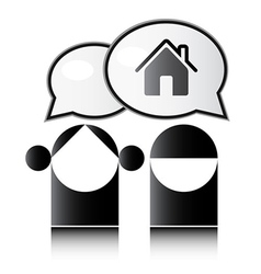 Two people talking about the house vector image
