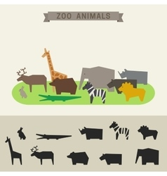 Zoo animals vector