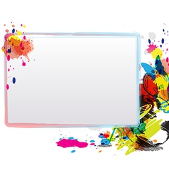 Abstract art design with frame vector