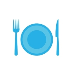 Knife plate fork cutlery menu icon graphic vector