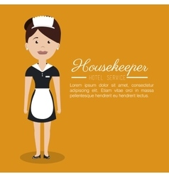 Housekeeper service hotel isolated icon vector