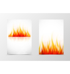 Front and back fire flyer template design vector image