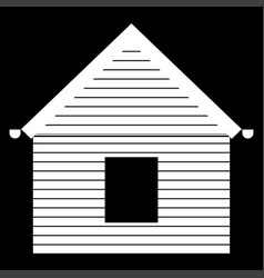 Siding front it is the white color icon vector