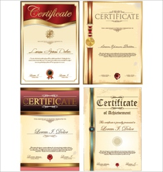 Certificate template set vector