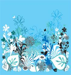 Garden of earthly delights blue vector