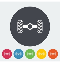 Chassis car single flat icon vector
