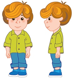 red haired boy vector image