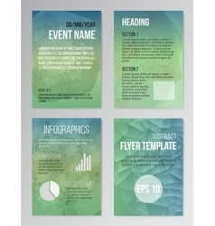 Set of poster brochure design templates in aqua vector