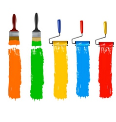 paint roller brush vert vector image