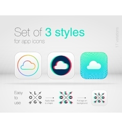 Graphic styles for app icons vector