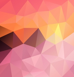 Sweet pastel pink sundown polygon triangular vector