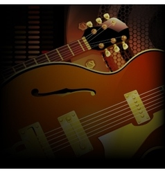 Jazz guitar close up acoustic speakers vector